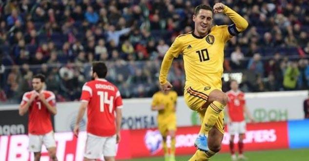 比利时4-1俄罗斯 阿扎尔双响卢卡库世界波