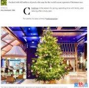 全球最贵圣诞树 价值1190万英镑