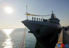 海军055型万吨级驱逐舰南昌舰入列