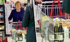 德国总理默克尔超市采购不戴口罩