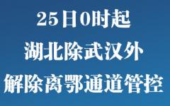 今日新鲜事:武汉将解除离鄂管控