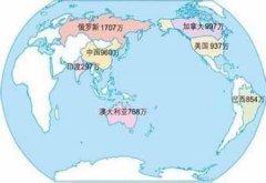 世界国土面积排名前十的国家