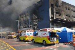 韩国在建物流仓大火致36死