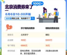 北京发100亿消费券