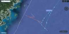 美军机闯进东海距福建海岸仅76公里