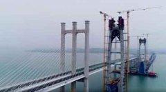世界首座高铁跨海大桥成功封顶