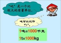 一吨等于多少千克?(吨与千克、斤换算公式)