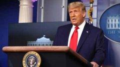 特朗普突然现身白宫发表最短讲话