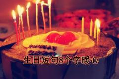 生日短句8个字暖心