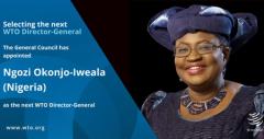 世贸组织任命首名女性总干事