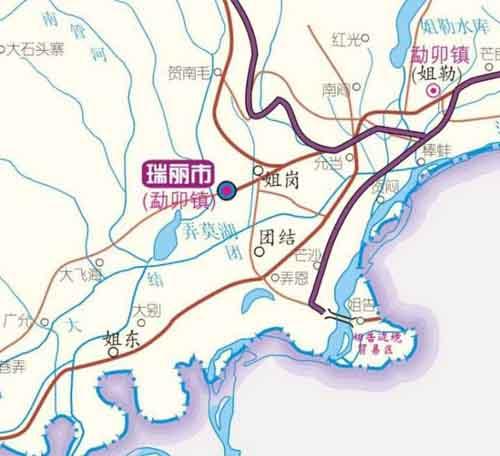 瑞丽在云南省的哪个地区【图】