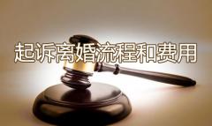起诉离婚流程和费用