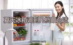 夏天冰箱调到几档最合适