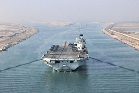正前往南海的英国航母暴发疫情