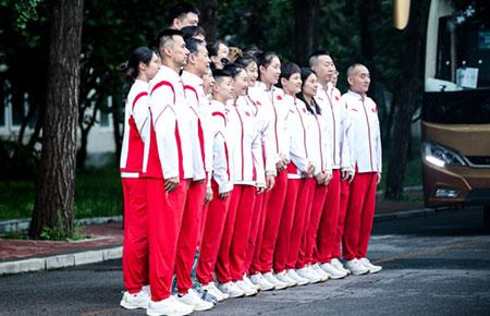 姚明率中国女篮出征东京奥运会